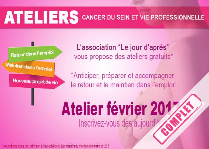 Atelier février 2017, préparer, anticiper et accompagner le retour au travail après un cancer du sein