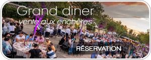 Réservation vente aux enchères Festival des vins d'Aniane - le grand dîner